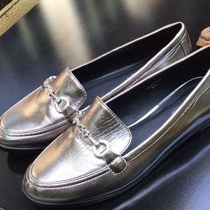 TOP SHOP Silver Metallic Shoes
